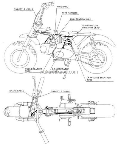 1982 honda z50r wiring diagram plain graph paper the cable and harness routing motors