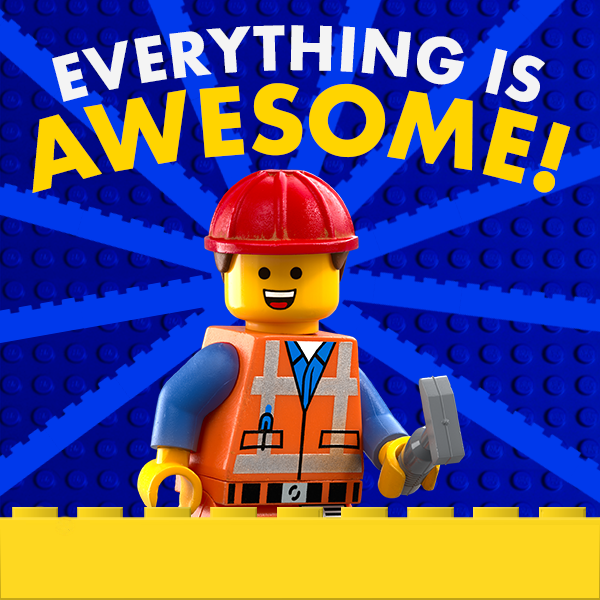6905e83b89075fa9921400440e448d95 everything is awesome! the lego movie lego pinterest meme
