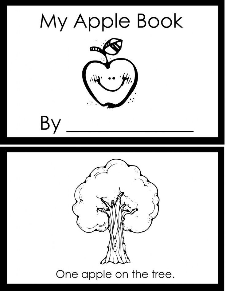 apple booklet using fingerprints to add apples to each page....cute ...