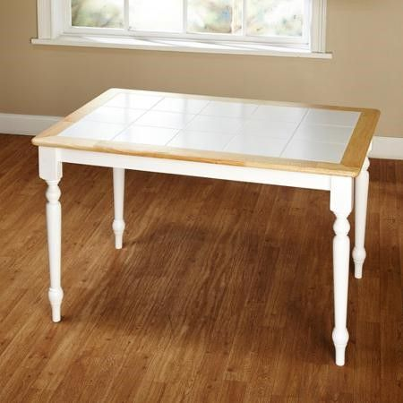 Tara Tile Top Table White Natural Jet Com Tile Top Tables Dining Table Table