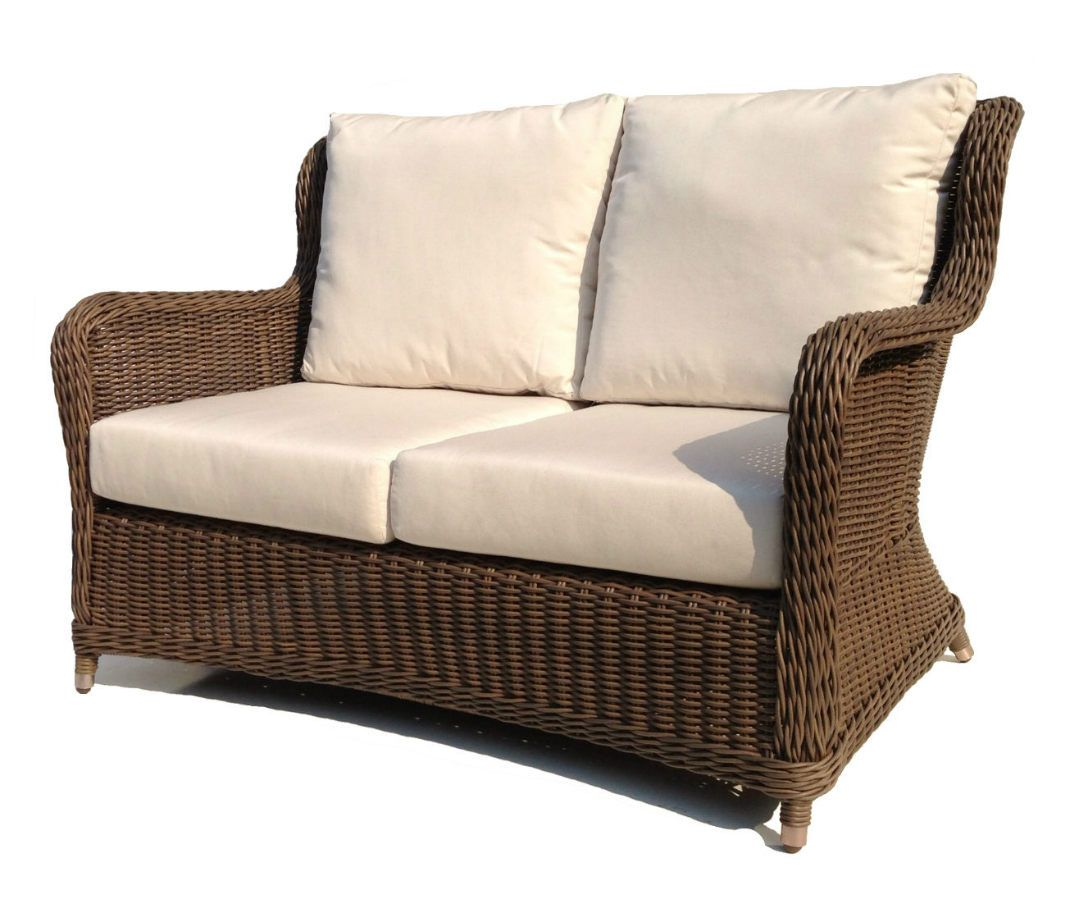 Sensational Bayshore Outdoor Wicker Loveseat Wicker Patio Furniture Cjindustries Chair Design For Home Cjindustriesco