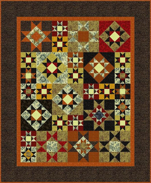 EQ6 Ohio Stars Quilt- I am not really into traditional patterns but I do love anything with stars