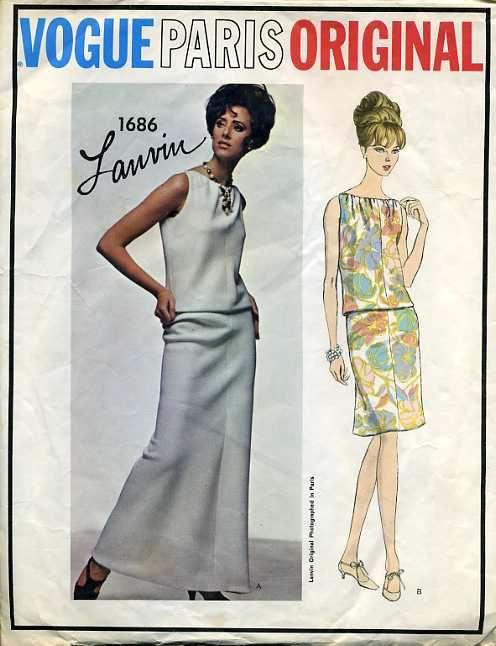 Vogue 1686 Vintage Vogue Vintage Vogue Patterns And Vogue Patterns