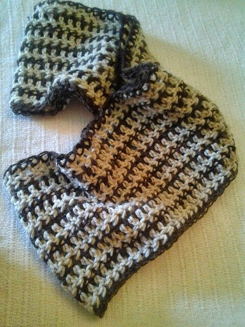 Infinity Scarf In The Round Single And Double Crochet Mimicking