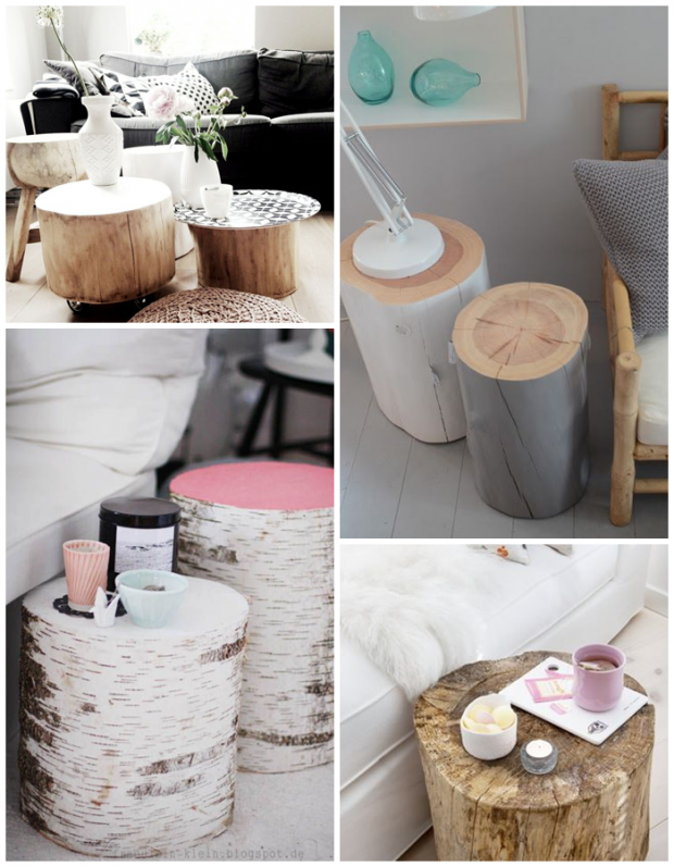 interior inspiration tische aus baumst mmen home pinterest tisch haus und wohnen. Black Bedroom Furniture Sets. Home Design Ideas