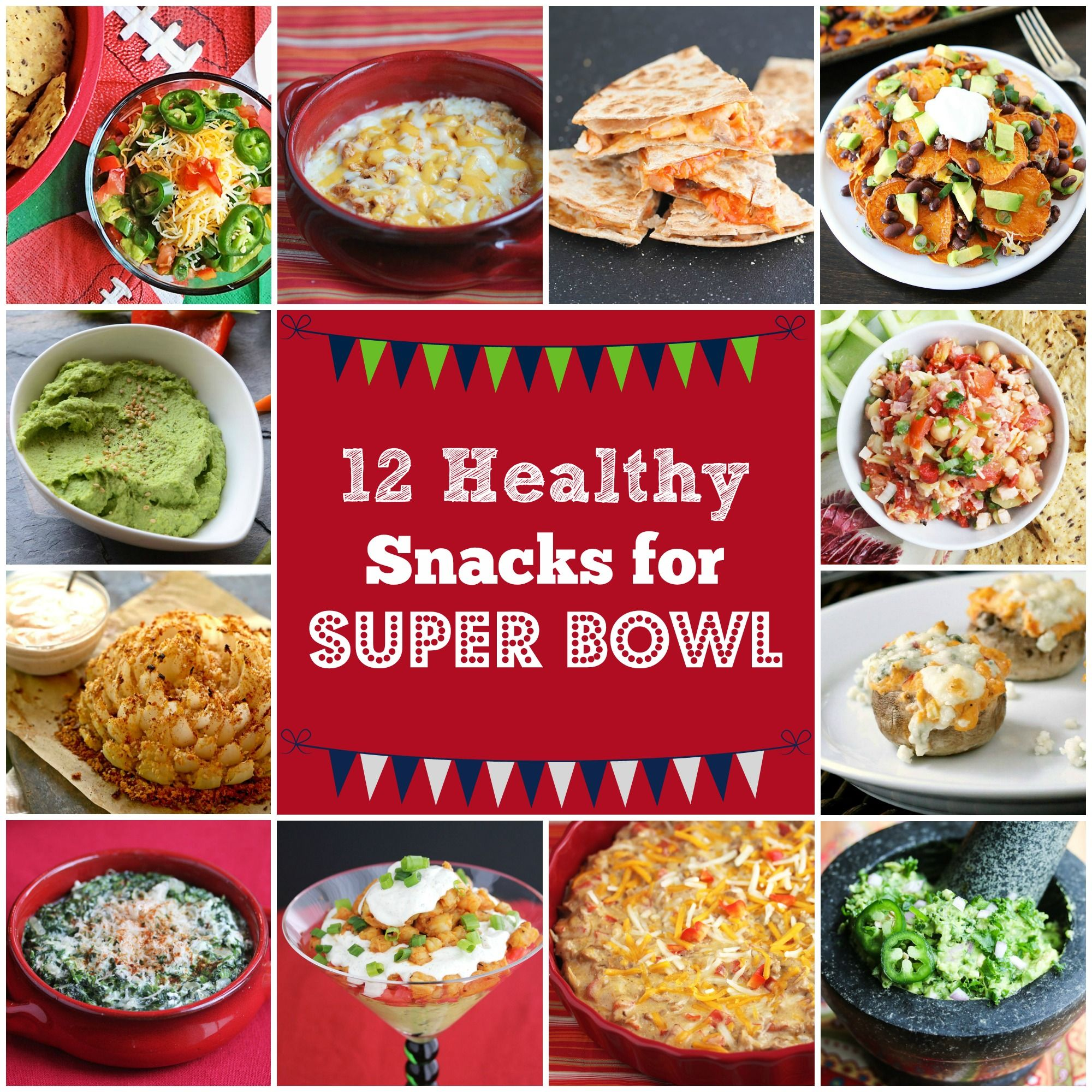 12 healthy super bowl snack recipes super bowl party snacks and bowls 12 healthy super bowl snack recipes forumfinder Choice Image