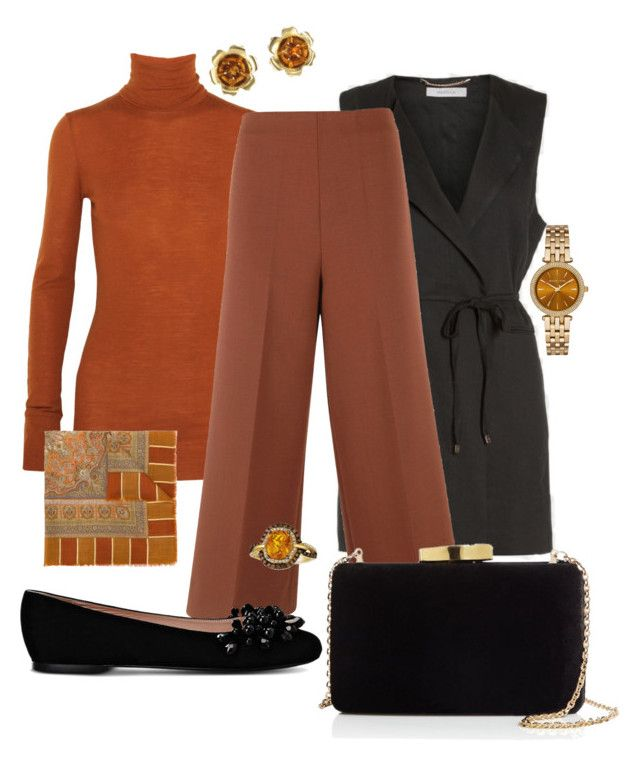 """""""Pumpkin Spice"""" by sommer-reign on Polyvore featuring Étoile Isabel Marant, Erika Cavallini Semi-Couture, Boutique Moschino, Kayu, Balenciaga, Michael Kors and LE VIAN"""