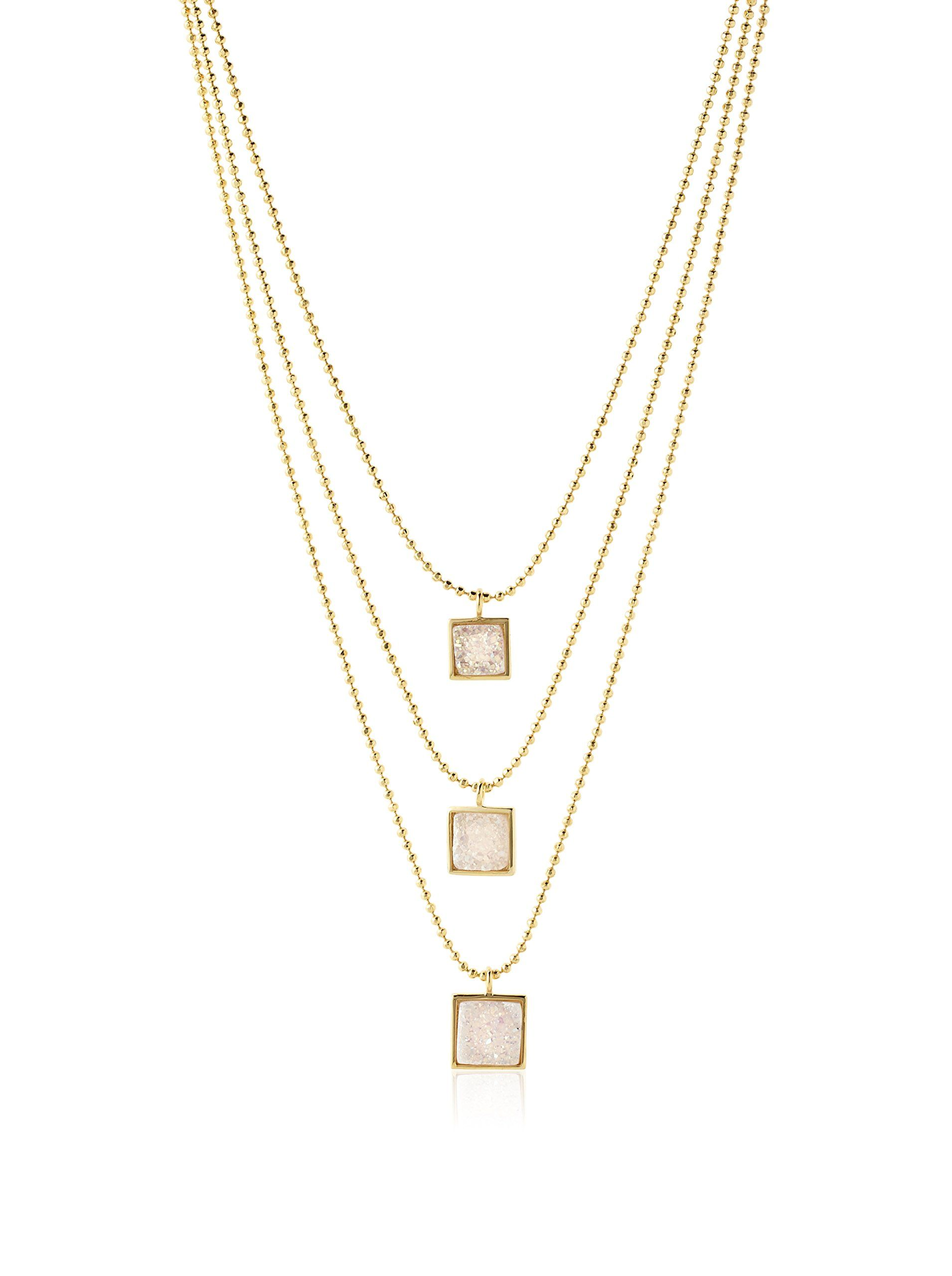 pendant products tier side brass swarovski view necklace from dangling plated with chain crystal crystals rhodium