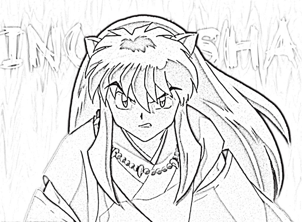 Inuyasha Coloring Pages To Print Cartoon Coloring Pages Horse Coloring Pages Kids Printable Coloring Pages