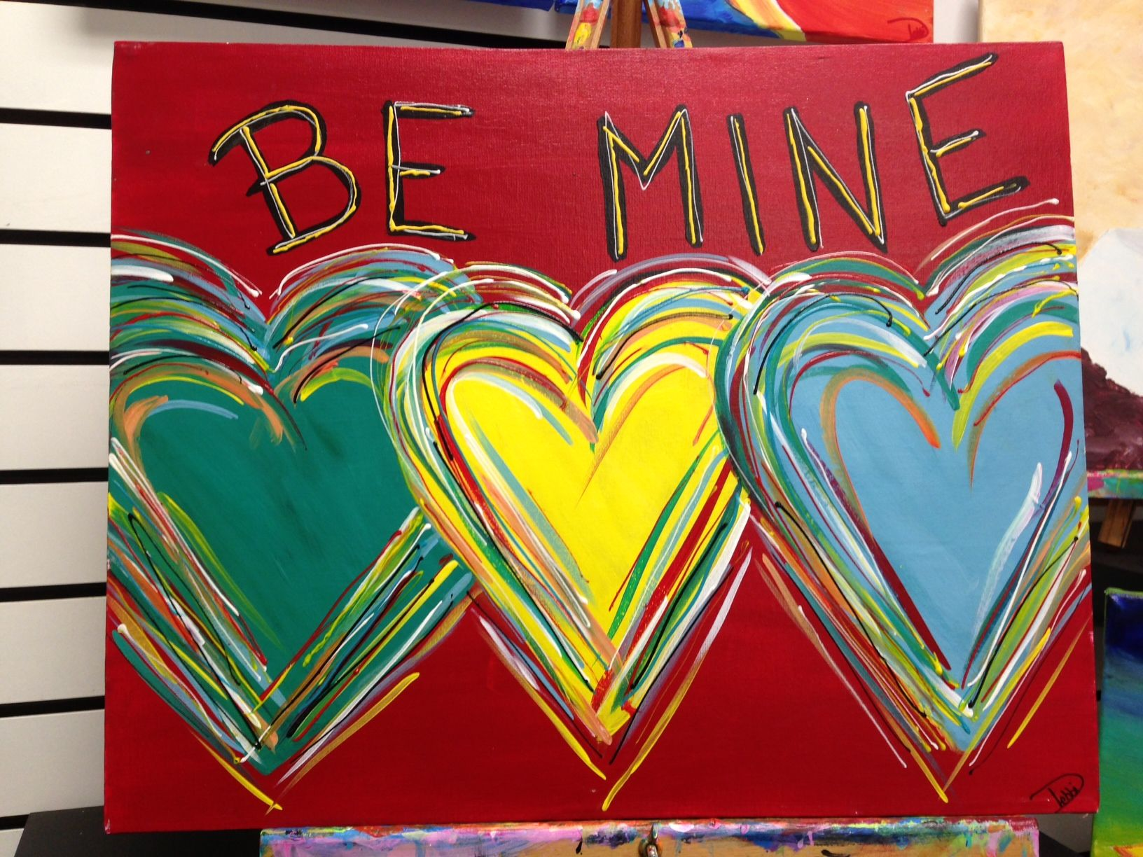 GRAFFITTI FOR VALENTINES DAY -- Kids Class, 2/9/13