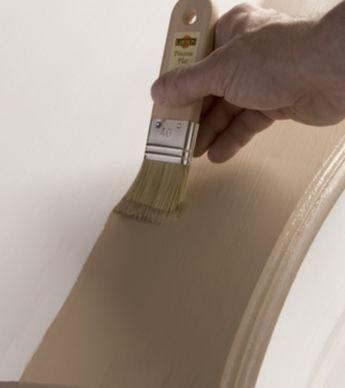 Customiser un meuble  patiner un commode Pinceau plat, Enduit et - peinture beton cire mur