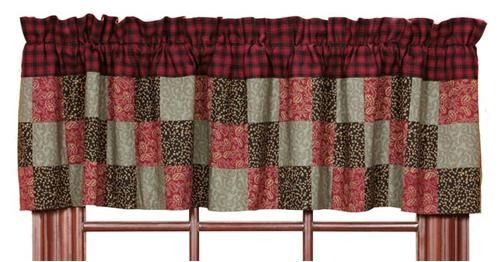 Lancaster Patchwork Block Lined Valance Valance Window Treatments Valance Lined Curtains