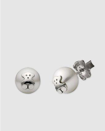 8a0e378021d7 Pendientes Bear con perla de Tous
