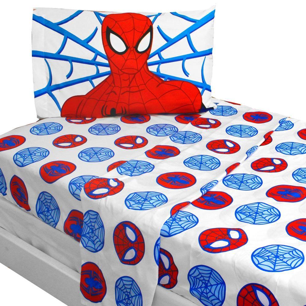 Marvel Comics Spiderman Bed Sheet Set Bold SpiderMan