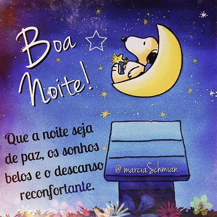 Boa Noite Frases Boanoite Snoopy Noite Reflexão Snoopy