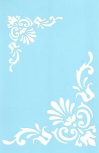 """Stencil, Tracy Moreau, Tulip Corner Motif, 8 1/2"""" x 5 1/2"""","""