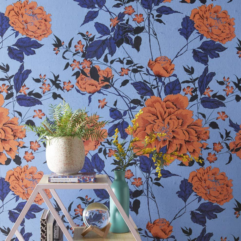 31 Things From Walmart That Ll Help Your Home Feel More Like Well Home Peel And Stick Wallpaper Vintage Floral Pattern Vintage Floral