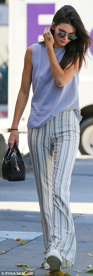 Ladies who lunch! Kendall Jenner and Hailey Baldwin (pictured L grabbing coffee at a separ...