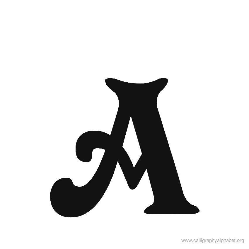 Calligraphy alphabet victorian a s b pinterest