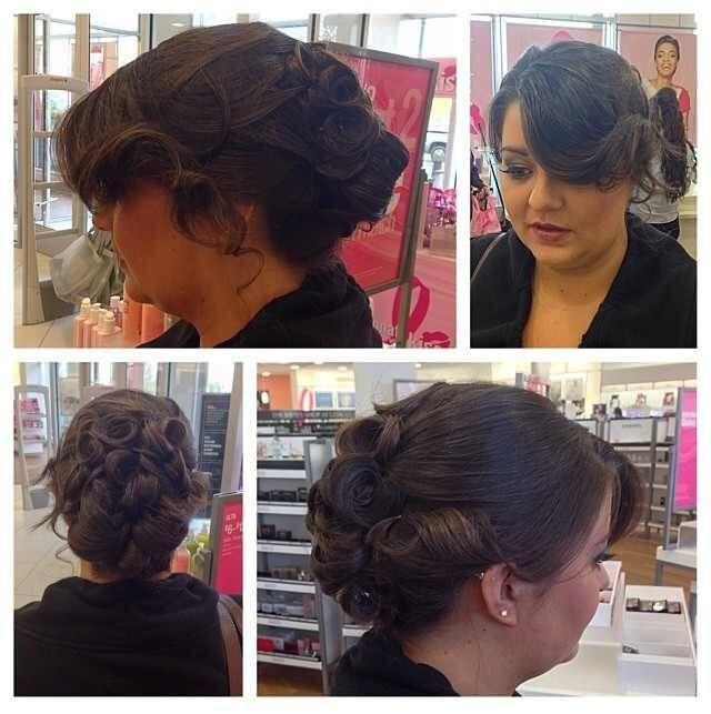 Bridesmaid Formal Styling By Tiffanyhairstylist Updo For A Bridesmaid Done At The Ulta Salon Hair Styles Bridal And Formal Hair