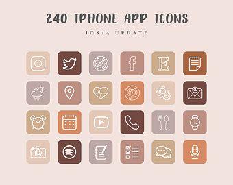 Fall Aesthetic iPhone App Icons, Boho iOS 14 App I