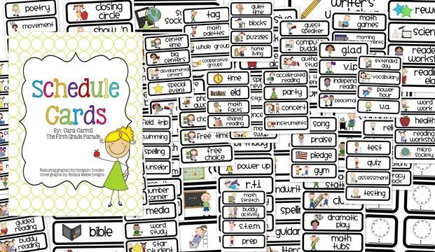 Free Visual Daily Schedule Cards To Print That Are Super Cute 46 Pages Of Different Learning Activities Daily Schedule Cards Schedule Cards Classroom Schedule