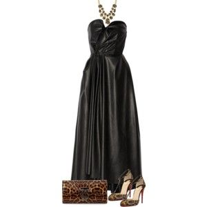 Black Dress and Leopard Shoes (OUTFIT ONLY!)