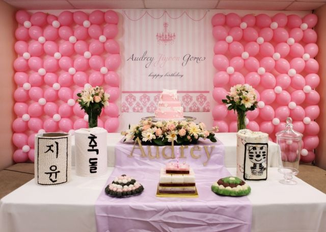 Topic DIY Lattice Balloon Backdrop Korean 1st Birthday Dol