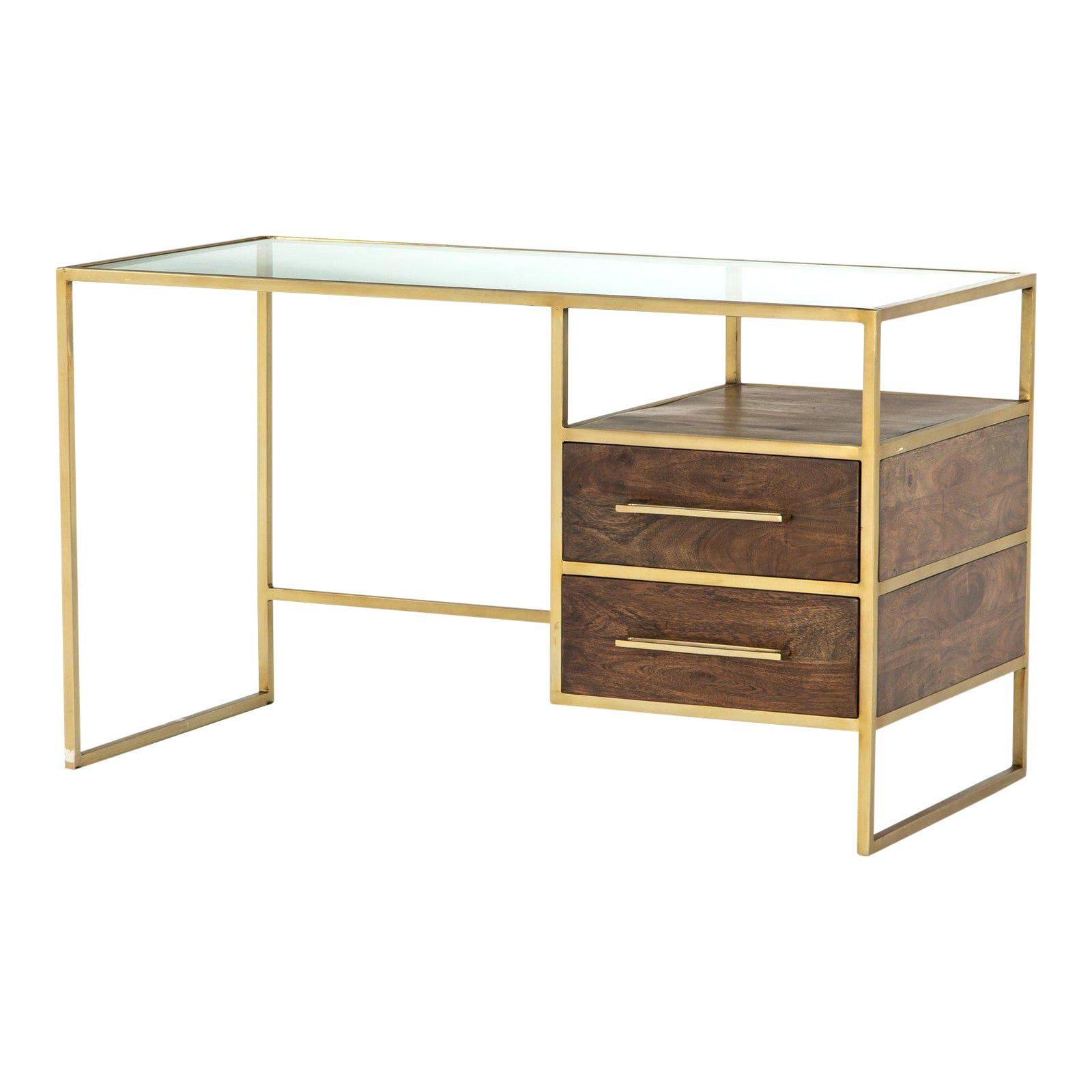 Contemporary Erdos Ko Home Riviera Writing Desk In 2020 Modern Glass Top Desk Glass Top Desk Contemporary Office Desk