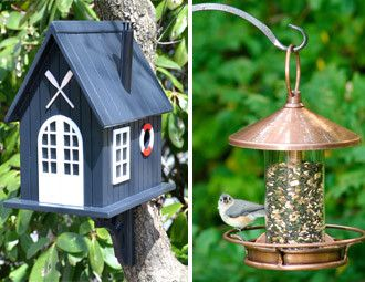 i pinned this from the for the birds - inviting homes for your
