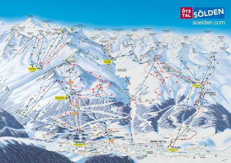 Slden Piste Map Trail Map Snow Pinterest Trail maps Ski