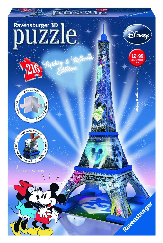 Ravensburger Puzzle 3d Mickey Minnie Eiffel Tower 216pcs 12570 Manufacturer Ravensburger Enarx Eiffel Tower 3d Puzzle Ravensburger Mickey Mouse Puzzles