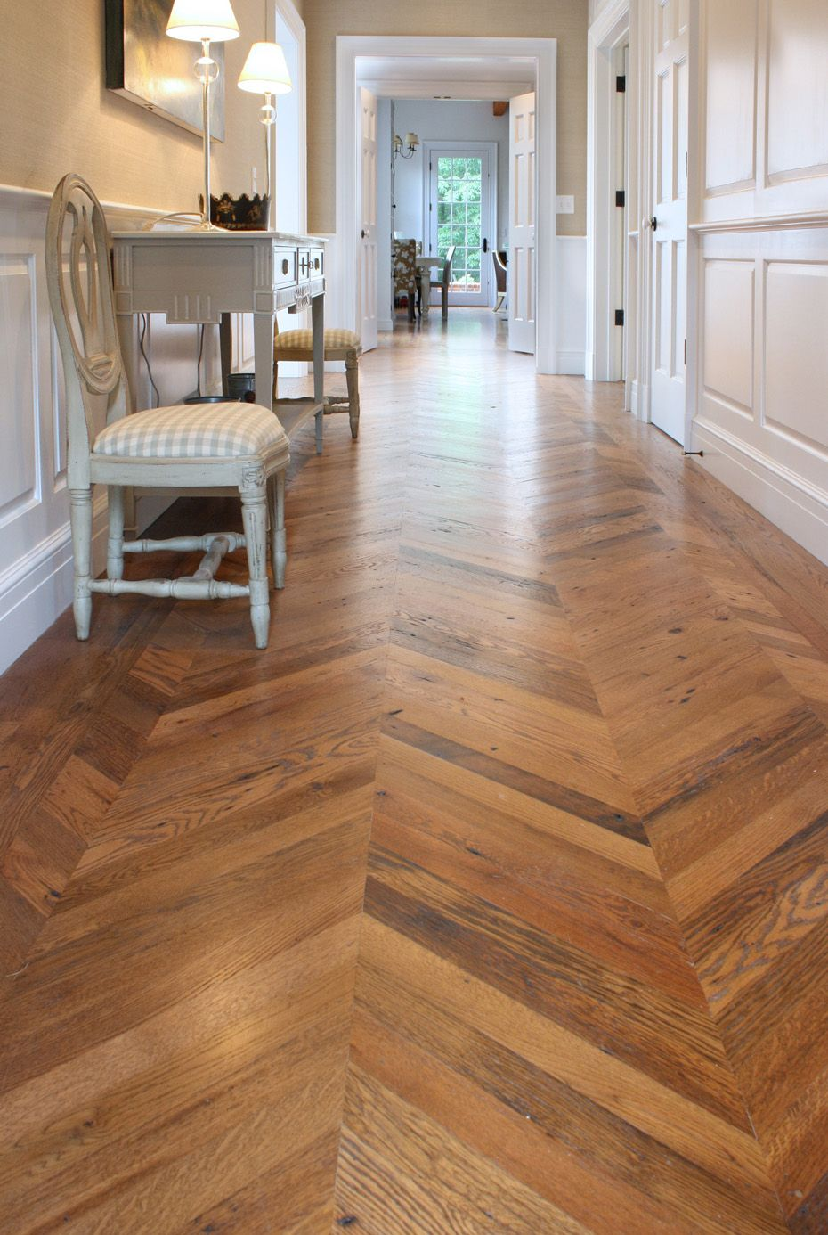 Custom Chevron Wooden Floors  Spaces  Misc Interior