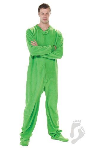 Emerald Green - Adult Footed Pajamas | Adult Pajamas | Footy ...