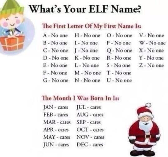 What S Your Elf Name Nombres De Elfos Elfo For Facebook