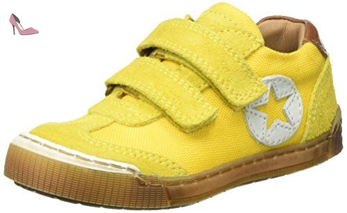 Bisgaard Klettschuhe, Baskets Mixte Enfant, Gelb (Yellow), 33 EU