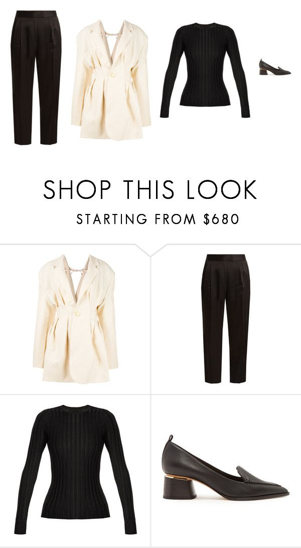 """""""Untitled #5467"""" by amberelb ❤ liked on Polyvore featuring Jacquemus, Khaite, Altuzarra and Nicholas Kirkwood"""