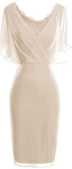 65a353052a8 Sheath Scoop Short Sleeves Light Champagne Mother of The Bride Dress ...