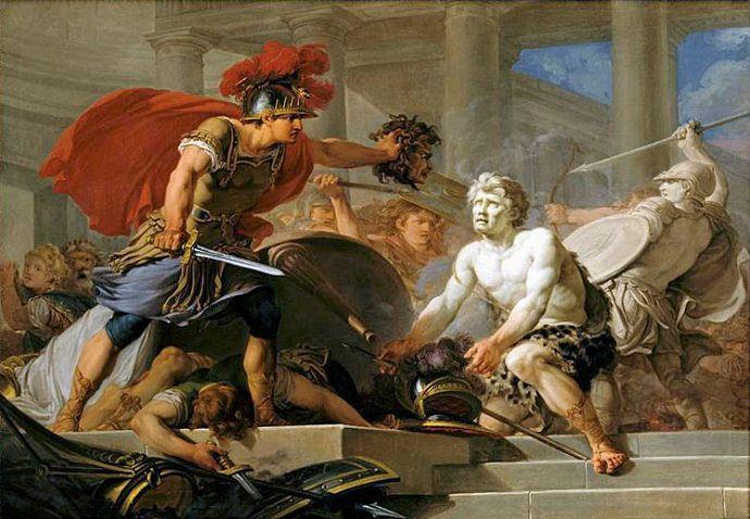 Persee Petrifiant Phinee Et Ses Soldats Lors De Son Mariage D Apres H Taraval C Chateau De Versailles 1767 Mythologie Grecque Mythologie Les Mythes