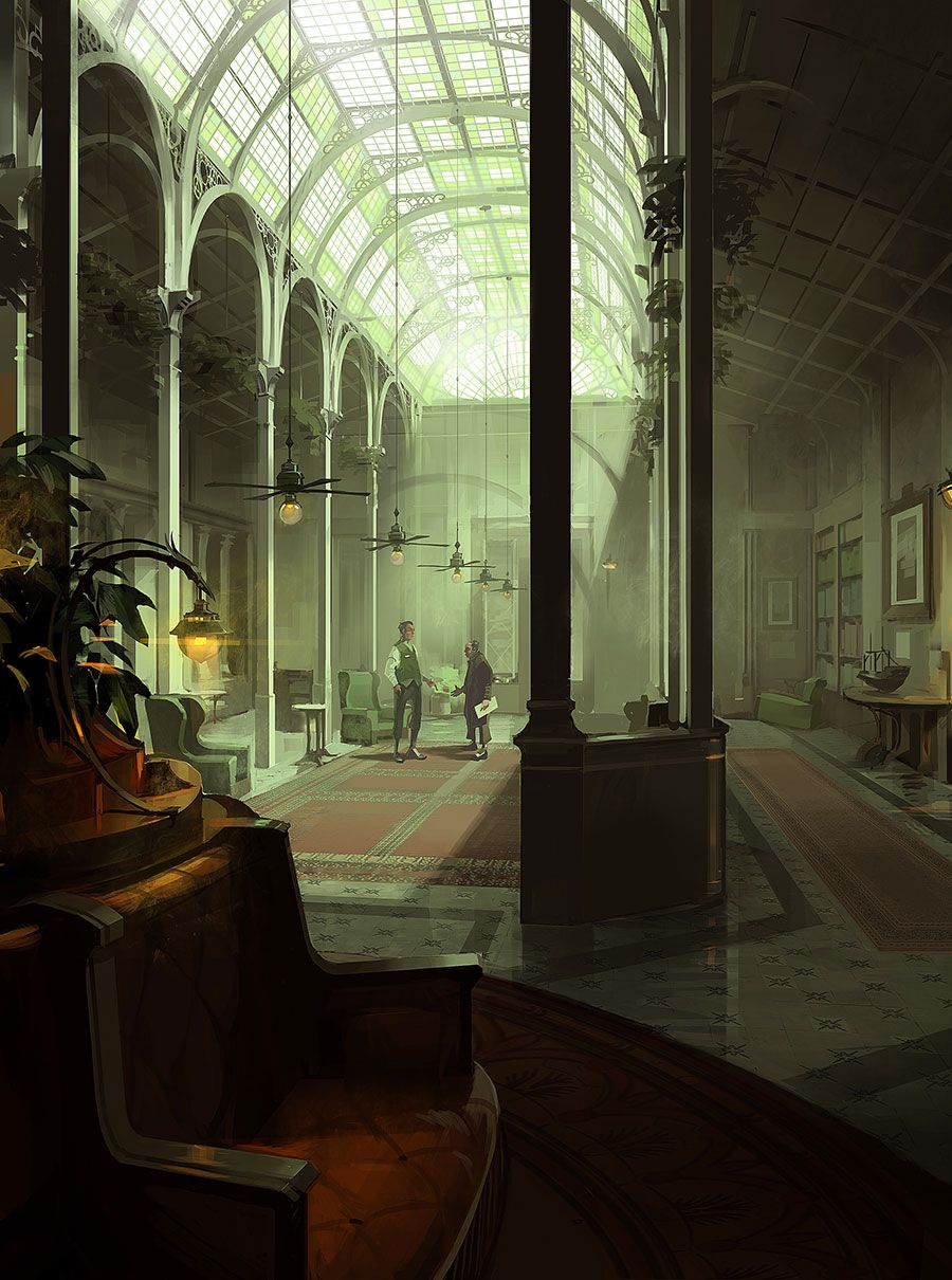 Indoor Canopy Concept Art from Dishonored 2 | Dishonored in 2019