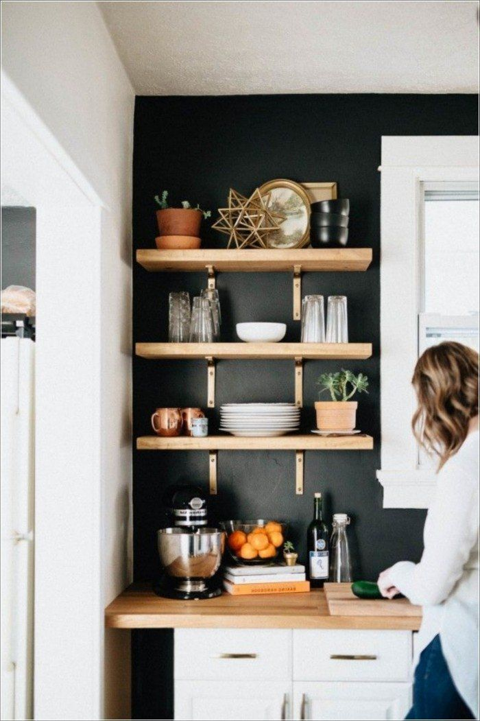 Scandinavian interior design using wood for some sections, such as ...