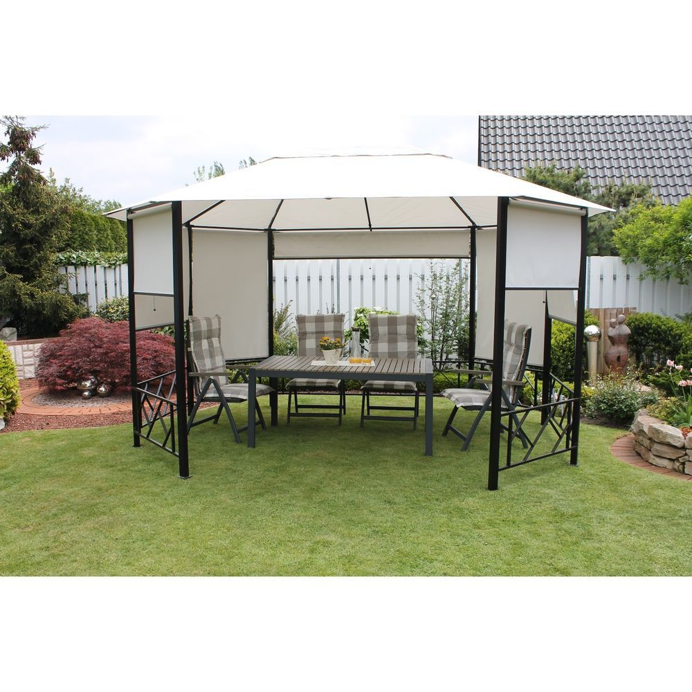 Metal Garden Gazebo Large Pavilion Outdoor Shade Canopy