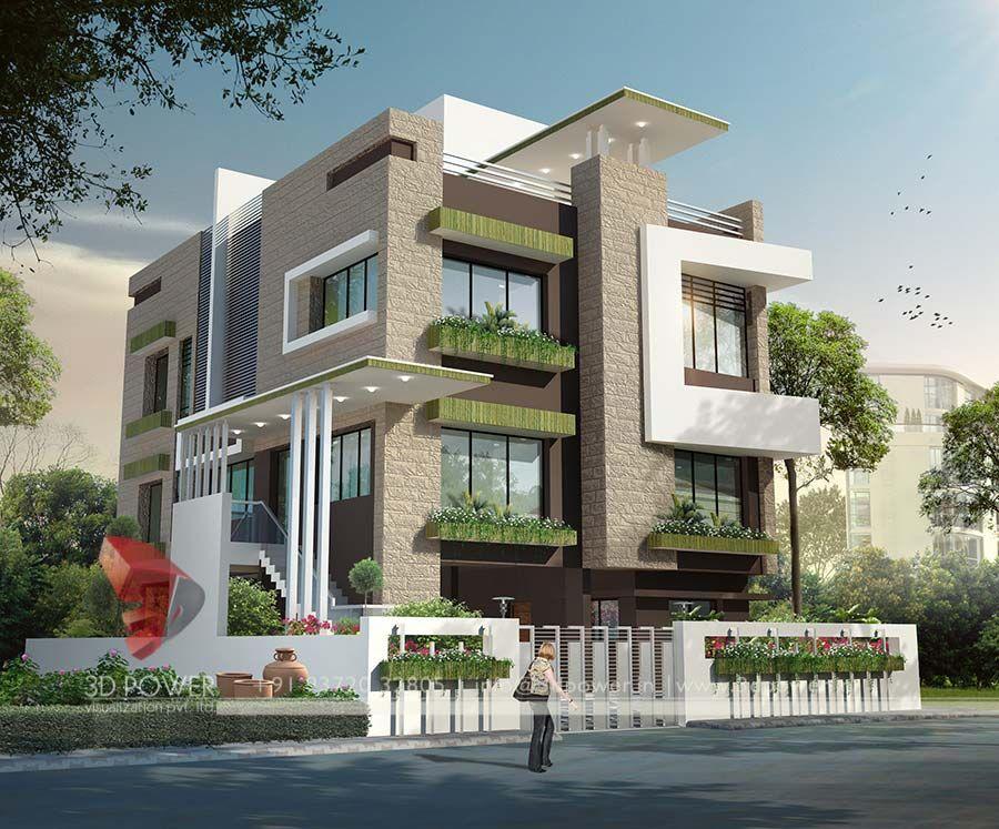 Ultra Modern Home Design Elevation In 2019 Modern
