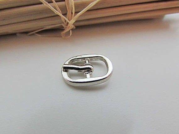 ac644d39de8 5 petite boucle de ceinture pour lanière de max 8mm - métal argenté -15.52
