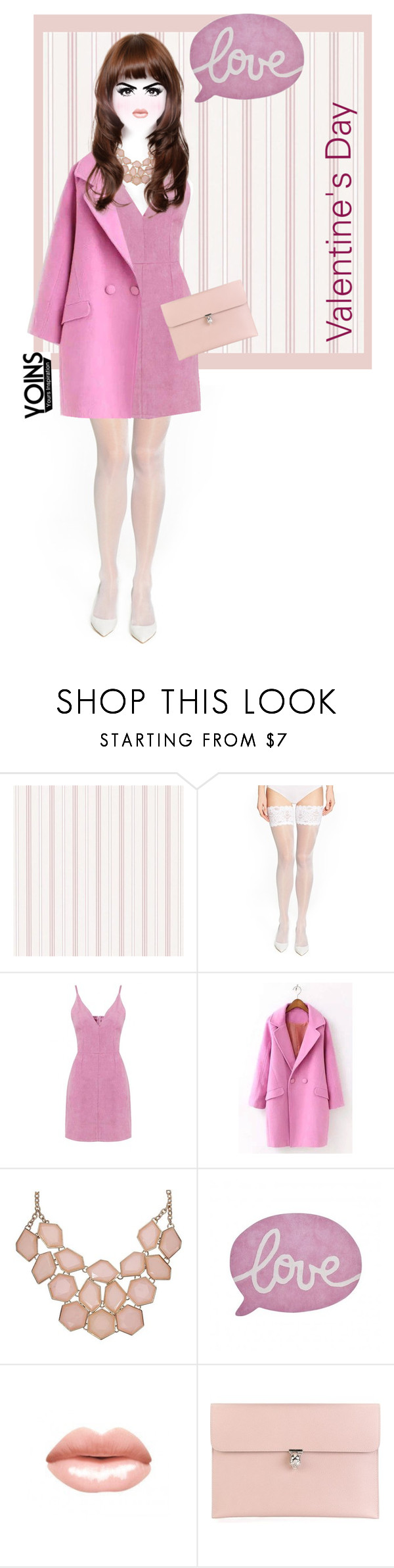 """YOINS"" by sebi86 ❤ liked on Polyvore featuring Wolford, Lilipinso, Alexander McQueen, women's clothing, women's fashion, women, female, woman, misses and juniors"