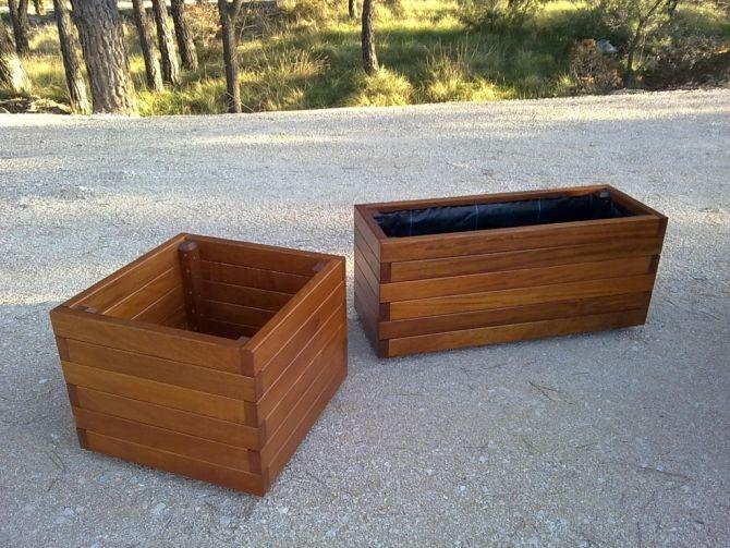 Jardineras madera tropical pino o hierro muebles artesanos y r sticos virgili soteras o u - Muebles de madera rusticos ...