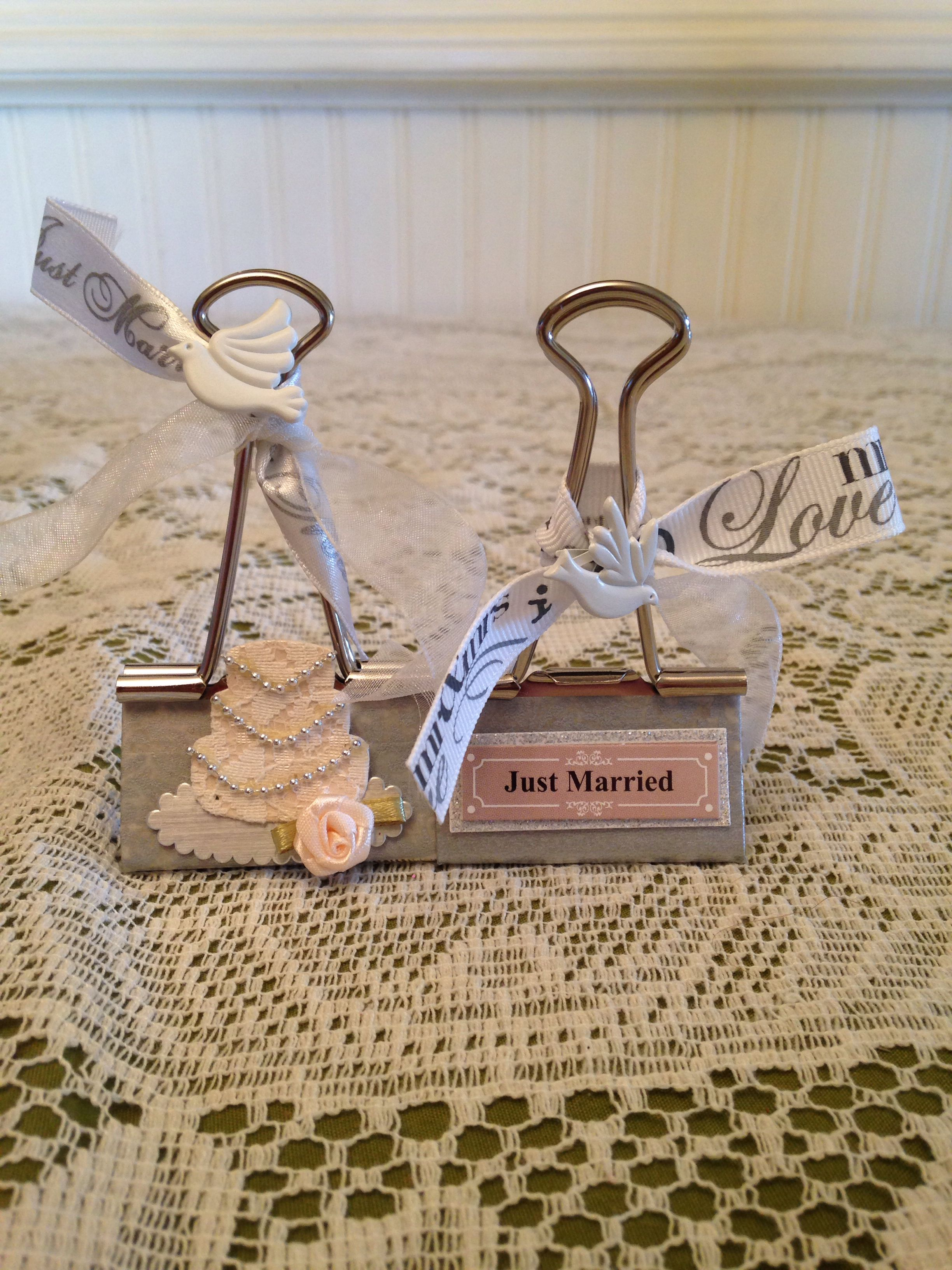 Wedding Binder Clips With Images Binder Clip Hacks Place Card