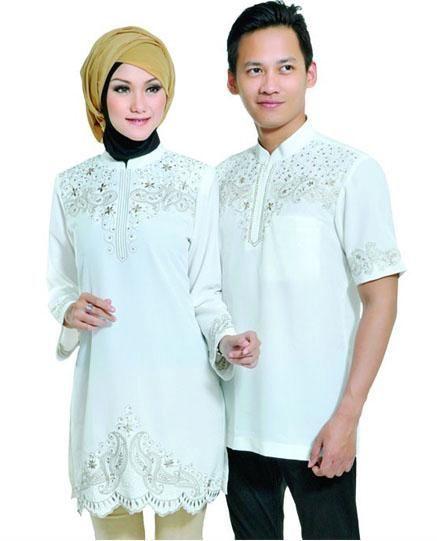 Baju Couple Muslim Terbaru 2017 Warna Lembut Busana Muslim