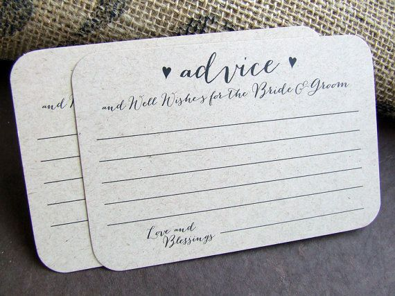 100 Wedding Advice For The Bride And Groom Printed Cards Well Wishes Words Of Wisdom Marriage Reception Newlyweds Linen Quality Card Stock By