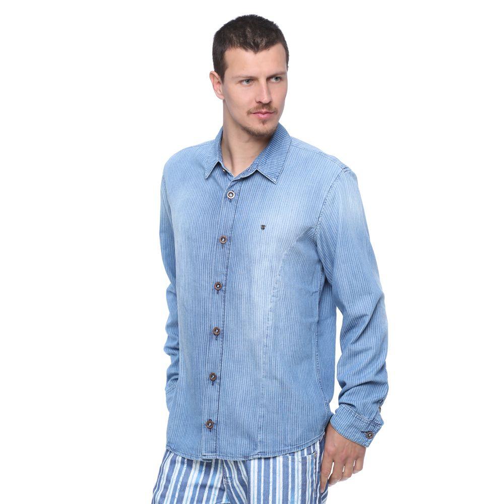 ba305e96d77d Camisa Manga Longa Jeans - Damyller Modelos De Calças, Camisas Manga Longa,  Roupas Masculinas